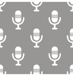 Microphone seamless pattern vector
