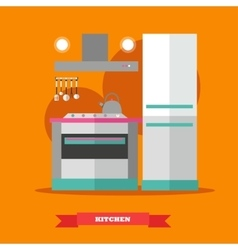 Modern kitchen interior in vector image