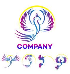 modern phoenix logo vector image