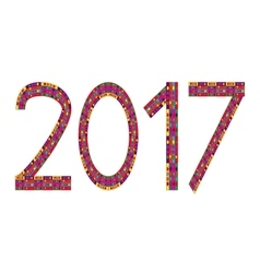 Multi Colored Numbers Of Year 2017 vector image
