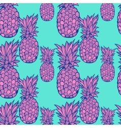 Pineapple pattern - vector image vector image