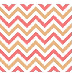 pink and beige chevron retro decorative pattern vector image