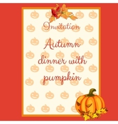 Preparation of the autumn menu card for cafes vector image