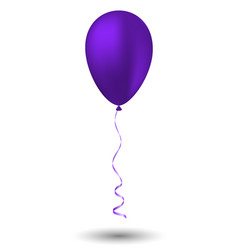 purple balloon on white background vector image