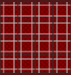 red tartan with white and black stripes background vector image
