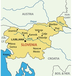 Republic of slovenia - map vector