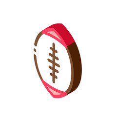 rugby ball isometric icon vector image
