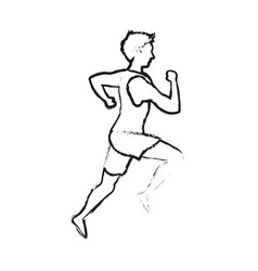 running man sport or health icon image vector image