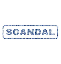 Scandal textile stamp vector