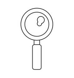 Search discovery observe loupe icon thin line vector