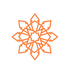 Sharp crystal octagonal mandala geometric symbol vector