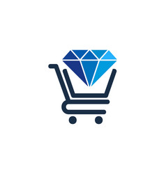 Shop diamond logo icon design vector