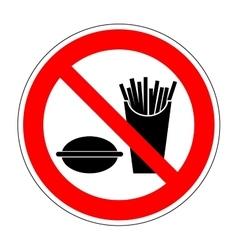 Sign no eat 1704 vector