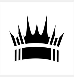 Simple crown shape logo and icon vector