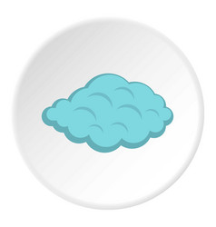 Small cloud icon circle vector