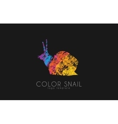 Snail logo color snail logo creative logo design vector