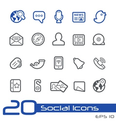 Social Media Outline Series vector image