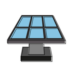 solar panel con image vector image