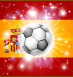 Spain soccer flag vector