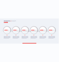 stylish infographic concept template six vector image
