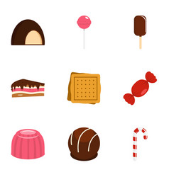 Sweets icon set flat style vector
