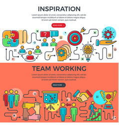 Teamwork and inspiration banners vector