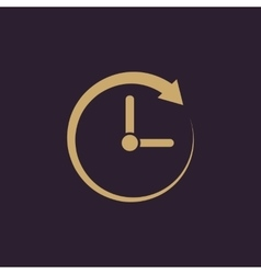 Time clock icon Time and watch timer clock vector