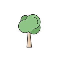 Tree rgb color icon vector