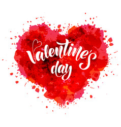 Valentines day - hand lettering vector