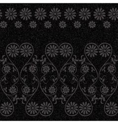 Vintage rustic flower pattern vector image