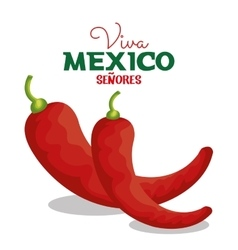 viva mexico chili pepper icon graphic vector image