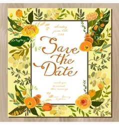 Wedding floral card vector image