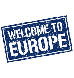 welcome to europe stamp vector image