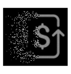 White disappearing dot halftone reverse vector