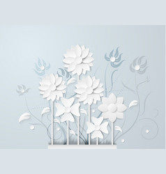 White flower and bouquet vector
