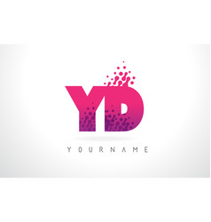 Yd y d letter logo with pink purple color and vector