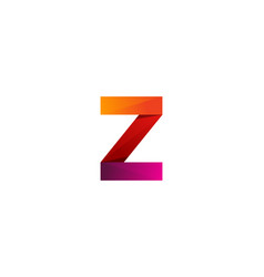 z ribbon letter logo icon design vector image