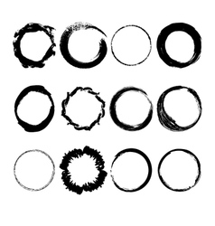 Collection of hand drawn circles vector image