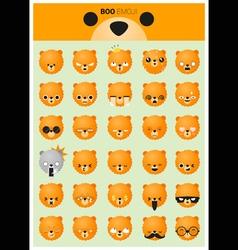 Dog emoji icons vector image vector image