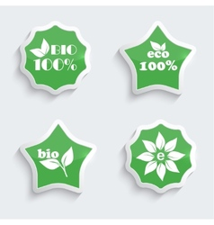 Glossy plastic buttons with environmental icons vector image vector image