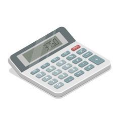 grey isometric calculator vector image