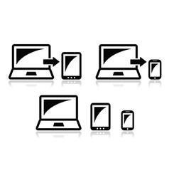Responsive design - laptop tablet smarthone icon vector image