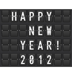 scoreboard happy new year vector image vector image