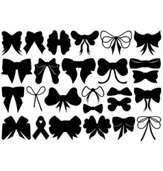 Set of different ribbons vector image vector image