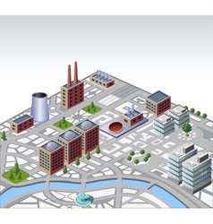 urban and industrial buildings vector image