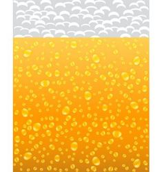 background with beer and foam vector image vector image