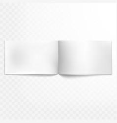 Blank open magazine isolated eps 10 vector