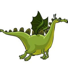 flying green dragon vector image vector image