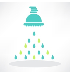 isolated shower head in frame with water drops vector image