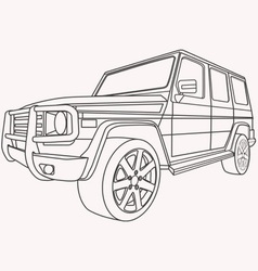 off road car vector image